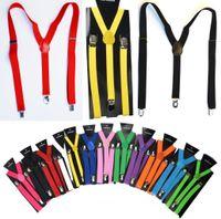 Wholesale pink suspenders belts resale online - 2 X100CM Women Man Y back Adult Adjustable Suspender Clip on Elastic Suspender Children Belts Baby Straps