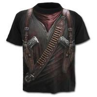 militar homens camisa t venda por atacado-2019 HOT GO New Elegante 3D Militar Ferramenta Gun Impresso T-shirt Dos Homens de Manga Curta de Verão Tees