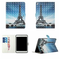 Wholesale animal tablet cases for sale - Group buy 3D Wallet Leather Case For Samsung Tablet T510 T560 T580 T810 T815 Eiffel Tower Unicorn Skull Fairy Flower Marble Card Holder Flip Cover