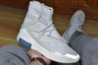 Wholesale fishing shoes size 11 resale online - 2019Fear of God hotsell fashion Newest Men Shoes FOG Boots Light Bone Black Sail casual Shoes Men white grey black casual shoes Size
