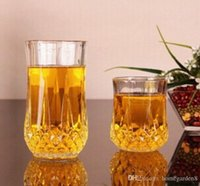 Wholesale cutting glass round for sale - Group buy Wine Glasses Lead free glass diamond cup whiskey mug beer mug for family bar hotel party supplies