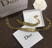 ingrosso gioielli per le madri-Hot 2019 Nuovo braccialetto del progettista Retro Lettere d'oro braccialetto braccialetto di fascino braccialetto Braccialetti per le donne e gioielli regalo madre libera la nave