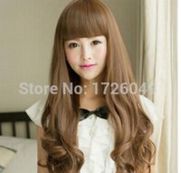 Wholesale beauty full sexy girl resale online - FREE SHIPPIN Women Sexy Style Popular Long Curly Hair Cosplay Party Beauty Girl Full Wigs