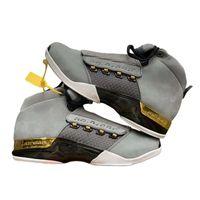 ingrosso basketball trophy-Top A + Materiale in pelle scamosciata di qualità Sneaker da uomo Mens Sport Scarpe da basket casual AirJodan17 Trophy Room Scarpe da corsa Taglia 41-46