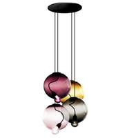 Wholesale red bubble lamps for sale - Group buy Multicolour Bubble Pendant Lights Modern AC V V Nipple Bedrooms Pendant Lamp Hotel Fashion Iron LED Hanglamp