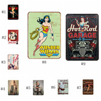 artes de la pared de metal al por mayor-Carteles de chapa Colección Shell Route 66 Vintage Wall Art RetroTIN SIGN Old Wall Metal Painting ART Bar Man Cave Pub Restaurant EEA290