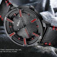 montres cool achat en gros de-Hommes de luxe cool regarder plein noir cuir Quartz homme montres sport occasionnel montre-bracelet horloge Punk Steampunk montre-bracelet