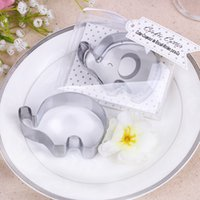 Wholesale wedding shower giveaways for sale - Group buy Little Elephant Cookie Cutter Baby Shower Favors Stainless Steel Biscuit Cutters Mold wedding Party Giveaway FFA3708