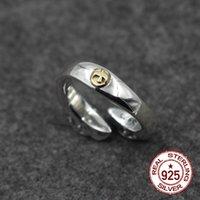 anéis indianos par venda por atacado-S925 casal de prata esterlina anel aberto personalidade clássico moda indiana retro estilo pássaros de bronze enviar presente da jóia do amante