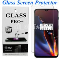 ekran lg toptan satış-OnePlus 7T 7 6 6T redmi Not 7 K20 Pro Xiaomi Mi 9T Pro Piksel 4 XL LG Stylo 5, perakende paket için HD Temizle temperli cam Ekran Koruyucu