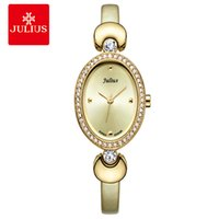 ingrosso tono di oro delle signore-JULIUS Cheap Promotion Watch High Quality Gold Tone Leather Band Romantic Gift For GF Ladies Dress Wtach Elegant Montre JA-313