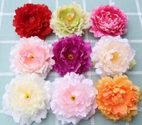 yapay şakayık çiçek başları toptan satış-Yeni Yapay Çiçekler Ipek Şakayık Çiçek Başları Parti Düğün Dekorasyon Malzemeleri Simülasyon Sahte Çiçek Baş Ev Süslemeleri
