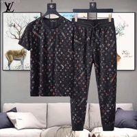 en iyi artı boyutu giysiler toptan satış-En kaliteli erkek tasarımcı eşofman mektubu baskı yumuşak lüks tasarımcı eşofman ücretsiz gemi erkek giysileri (T gömlek + Pantolon) artı boyutu M-3xl