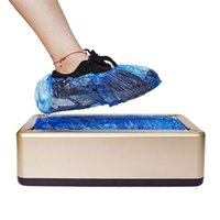 Wholesale step shoes resale online - Shoe Cover Dispenser Automatic Shoe Cover Machine Household Stepping Disposable Shoes Cover Home Office Shoes Film Machine DHB25
