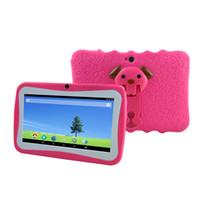 tableta de pantalla táctil para niños al por mayor-SANNUO 7 pulgadas HD portátil Android 4.4 512MB + 8GB Tableta para niños con pantalla táctil multi WiFi para niños (rosa)
