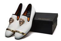 parte vestido casual venda por atacado-Estilo de luxo dos homens Vestido Casual, Sapatos Loafers Partido Cowskin Sapato Único Deslizamento Na parte Do Casamento, sapatos Italianos mens designer mocassins 38-45