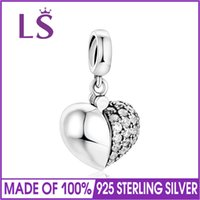 Wholesale idea charms resale online - LS Authentic Sterling Silver Charm for Women Fit Brand Bracelets Bangles New Ideas I Love You Bead DIY Fine Jewelry