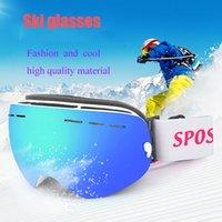 espelho anti nevoeiro venda por atacado-Óculos de esqui anti-nevoeiro colisão grande máscara de esqui óculos de esqui esférico camada dupla permanente antifogging neve espelho cartões míope