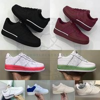 Wholesale outdoor army shoes hiking resale online - 2019 New Dunk Black White Red Airs Running Shoes One s Men Women Fashion Flat Casual Sport Sneakers Outdoor Trainers Size Zapatos
