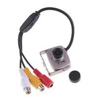 sicherheitsgläser großhandel-600TVL Super Mini Farbüberwachungskamera 6 LED Infrarot 3,6 mm Objektiv Video Audio Überwachungsmonitor Kameras