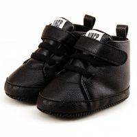 arco de sapatos de crochet venda por atacado-Sapatos recém-nascidos da criança primeiro caminhante outono inverno moda bebê crianças menino menina macio lona sneaker 0-12months