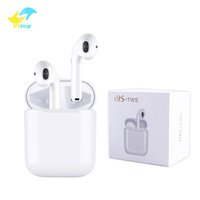 Wholesale headset bluetooth stereo earbuds resale online - i9s tws wireless bluetooth headphones ture stereo Earphones earbuds support pop up windows with silicone protector case Anti Lost Rope