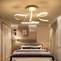 décorations de chambre cool achat en gros de-La lampe de Pandant d'art de plafonniers menée acrylique acrylique a mené des plafonniers pour la pièce d'étude vivante de chambre à coucher la décoration de la maison 3heads 45W