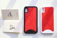 telefone branco vermelho venda por atacado-Caixa branca vermelha do telefone móvel da marca para o iphone X Xs 7 7plus 8 tampa macia do silicone 8plus