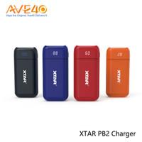 xtar pil şarj cihazı toptan satış-Orijinal XTAR PB2 18650 Pil Şarj Çift Yuvaları Güç Bankası Fonksiyonu Ile Taşınabilir 18650 Pil Şarj