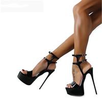 826c5e6233 dedos abiertos 45 al por mayor-2019 Nuevo Verano Sandalias de Mujer Sexy 16  cm