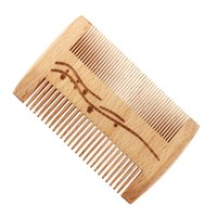Wholesale wooden hairbrushes resale online - 100pcs in Wood Hair Comb Portable Tooth Hairbrush combs Wooden Perforated strainer combs Can customize logo