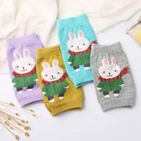 Wholesale baby crawling knee pads online - Cartoon Children Anti Fall Knee Socks Cotton Baby Crawl Elbow Knee Pads Dance Leggings Keep Warm Spring Summer zc A1