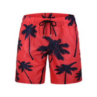a0c5da417e5f3 Summer Board Shorts Beach Surfing Liner Swimwear Fitness Bodybuilding Swimming  Trunks Coconut Tree Men's Bathing Suit Plus Size
