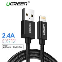 ingrosso cavo mfi usb-Cavo USB Ugreen MFi per iPhone 8 X 7 6S Plus 2.4A Cavo di ricarica rapida per iPhone 6 Cavo dati USB