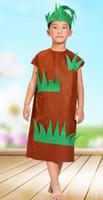 trajes de árvore venda por atacado-Novo estilo do 2018 crianças cosplay Botânica flor grama Verde Grande árvore Adequado para meninos e meninas traje de Palco estilo de dança curta vestir