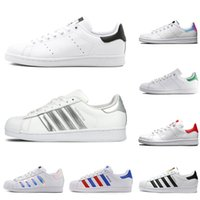 Wholesale plaid sneakers for sale - Group buy Original Superstar Smith men women casual shoes green black white blue red pink silver mens stan fashion leather shoe flats sneakers