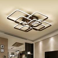 Wholesale industrial home decor resale online - Black Modern LED Chandelier Lights Fixtures For Living Dining Room Home Decor Lamp Bedroom Lustre lighting