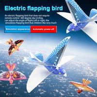 aves remotas al por mayor-Juguete de control remoto RC Flying Bird Plane Aleteo Ala Vuelo Modelo 2.4 GHz Drone Niños Regalos BM88