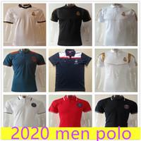 ralph tişörtleri toptan satış-2019 2020 Real Madrid polo erkekler ralph hommes tasarımcı gömlek erkekler erkek tasarımcı polo gömlekleri mens tasarımcı t shirt polo