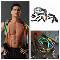 Wholesale pilates bands exercises resale online - Outdoor Sports Latex Resistance Bands Workout Exercise Pilates Yoga Crossfit Fitness Tubes Pull Rope Set ZZA2070