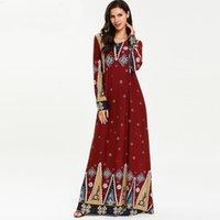 roupas jilbab venda por atacado-Vestidos Muçulmanos E Abaya Para As Mulheres Abaya Kaftan Dubai Vestido De Ramadan Hijab Turquia Jilbab Caftan Elbise Qatar UAE Vestuário Islâmico
