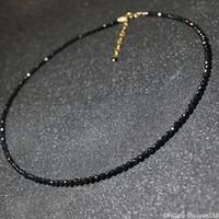 chocker de cristal colares venda por atacado-Imitação De Cristal Preto Contas Colares Chocker para As Mulheres Simples Moda Jóias Mulheres Declaração Curta Colar Bijoux Ladies Partido Jóias