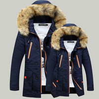 High Quality Thickening Parkas Men 2019 Winter Jacket Men's Coats Male Outerwear Fur Collar Casual Long Cotton Wadded men Hooded Coat