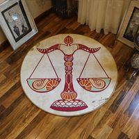 Wholesale yoga room decor resale online - Retro Twelve Constellations Carpets Living Room Home Child Carpet Bedroom Bedside Blanket Area Rug Study Yoga Decor Teppich Rugs