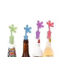 бесплатные свежие цветы оптовых-Многоразовые силиконовые вина пробка ЭКО-цветок формы бутылки пробка пива вкус бутылки вина пробка держать свежий бесплатная доставка