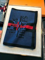 schwarzer weißer baumwollschal großhandel-New Herrenschal High-End Luxus Herbst / Winter Boutique Herren Designer Schal H Schal 180 * 30cm gute Qualität weich und glatt