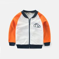 kinder ceket toptan satış-2019 yeni moda Sonbahar ceket erkek kinder için yeni yıl kostüm genç çocuklar için erkek tişörtü için pamuk kollu giysi