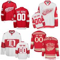 0fae0c22327 Custom Detroit Red Wings White Third Jersey Any Number Name men women youth  kid Athanasiou Nielsen Nyquist Bertuzzi Howe Bernier Yzerman