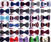 Wholesale knit bowties for sale - Group buy baby boys bowties high quality Birthday Party bow tie Adjustable gifts kids Toddler wedding Necktie knitting mix colors cm