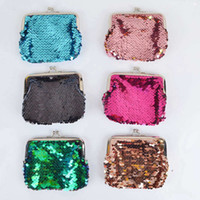 Wholesale change purses for for sale - Fashion Mermaid Sequin Coin Purse For Girls Kids Coin Bag Mini Wallet Small Change Wallet Coin Pouch VVA444